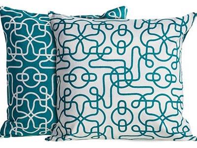 Deco Blue Pillow