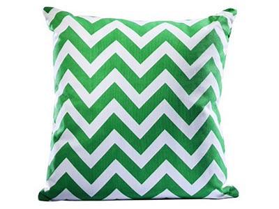 Chevron Pillow, Green