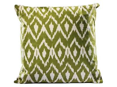 Ikat Pillow, Light Green
