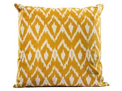 Ikat Pillow, Mustard