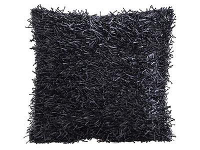 Shag Pillow, Black