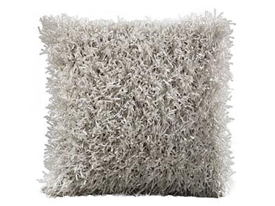 Shag Pillow, White