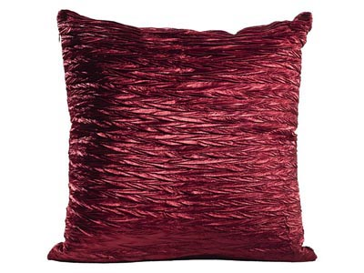 Shimmer Pillow, Ruby Red