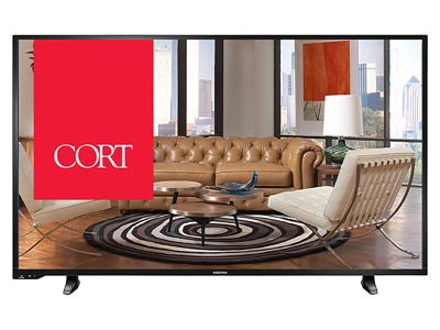 "Rent the 55"" HDTV"
