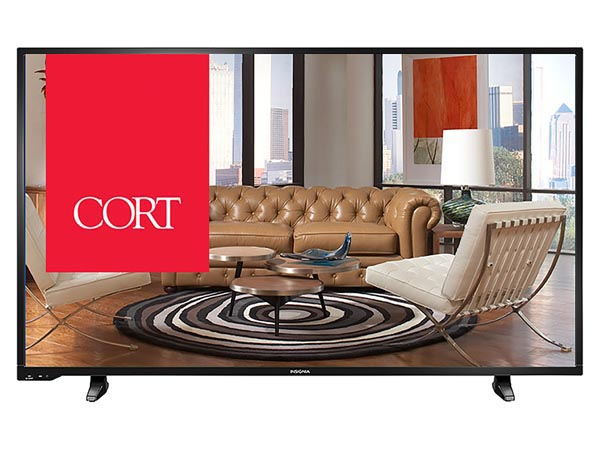 "Rent the 50"" 1080P LED HDTV"