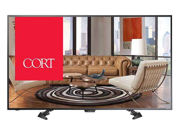 "Rent the 40"" Smart LED/HDTV Roku TV"