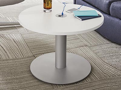 "Rent the Quorum 30"" Round Table with Power"