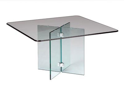 Rent the Glass on Glass Cocktail Table