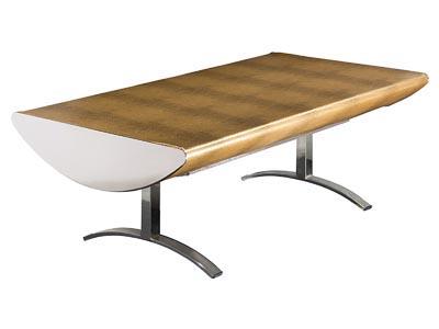 Crescent  Gold Alligator Coffee Table