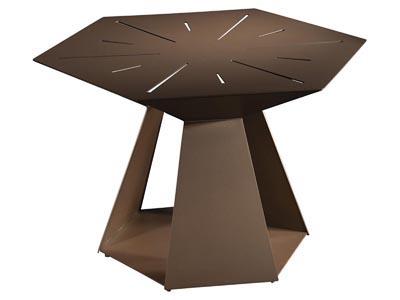 Galactic Side Table, Sienna Brown