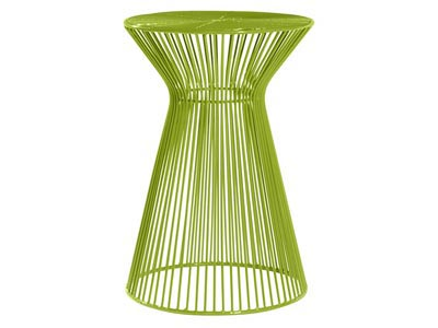 Wire Side Table, Green