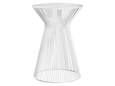 Wire Side Table, White