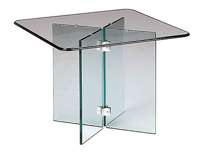 Rent the Glass on Glass End Table
