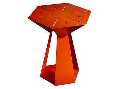 Galactic Side Table, Spice Orange