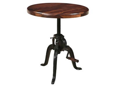 Manchester Round Adjustable Accent Table