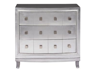 Silver 3 Drawer Chest