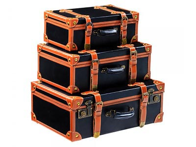 Vintage Suitcases, Set of 3