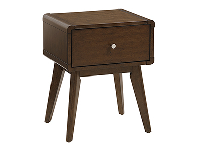 Rent the Hendrick Dark 1 Drawer Side Table
