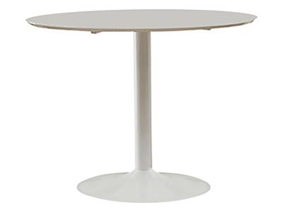 Lowry Round White Dining Table