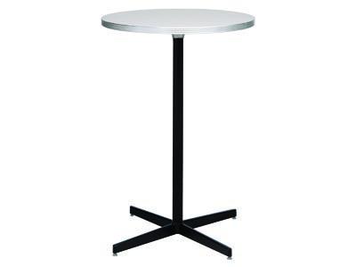 Brushed Aluminum Round Table