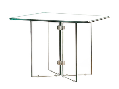 Glass On Glass Square Dining Table