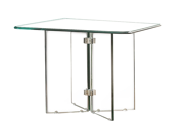 Rent the Glass on Glass Square Dining Table