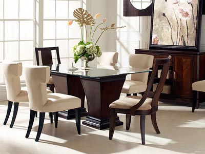 Rent the Boulevard Double Pedestal Dining Table
