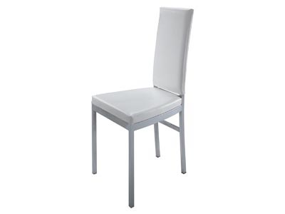 High Back Dining Chair, White