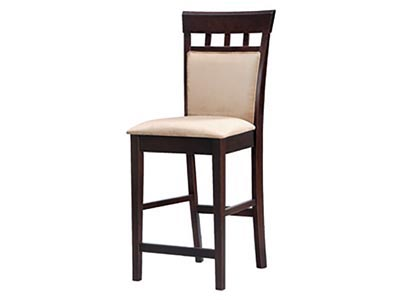 Upholstered Counter Height Stool, Cappuccino