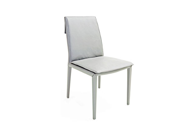 Rent the Daisy White Leather Dining Chair