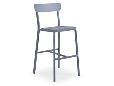 Rent the Boardwalk Smoke Blue Bar Stool