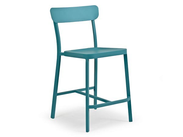 Rent the Boardwalk Turquoise Counter Stool