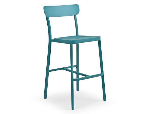Rent the Boardwalk Turquoise Bar Stool