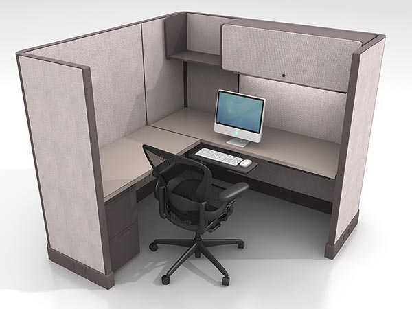 Rent the Herman Miller AO2 6x6 Work Station #8