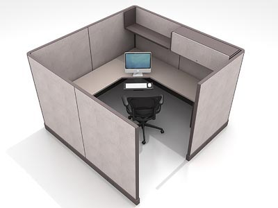 Rent the Herman Miller AO2 8x8 L-Shaped Work Station #18