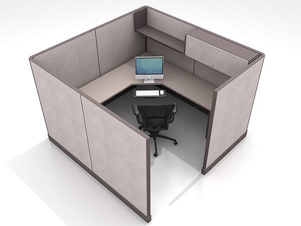 Rent the 8x8 L-Shaped Work Station #18