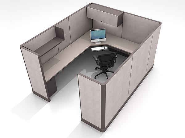 Rent the 10x8 L-Shaped Work Station #10