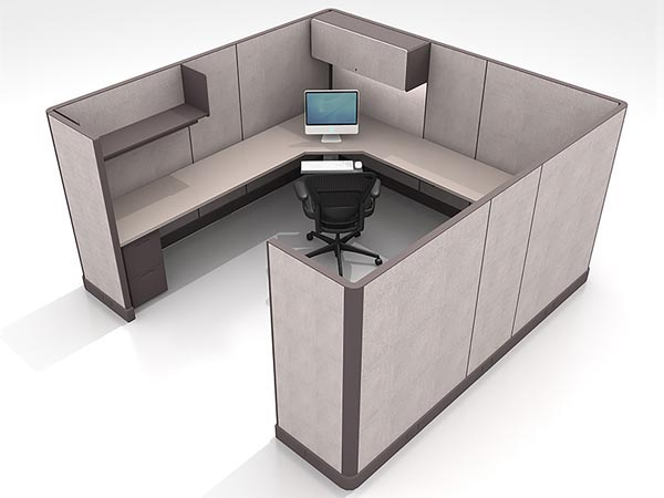 Rent the 10x10 L-Shaped Work Station #13