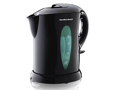 Rent the Hamilton Beach K6080 1.8 Liter Electric Cordless Tea Kettle, Black