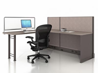 Rent the Herman Miller AO2 6x6 Open Plan Work Station #19