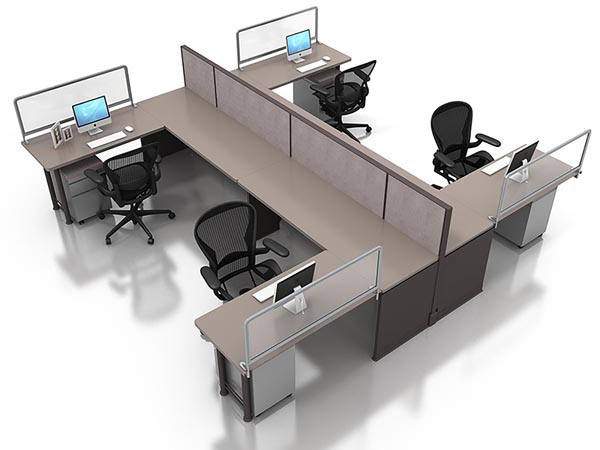 Rent the 12x12 Open Plan Work Station #22