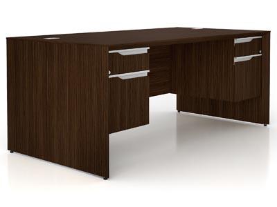 NEX Dark Chocolate Double Pedestal Executive Desk 36x72