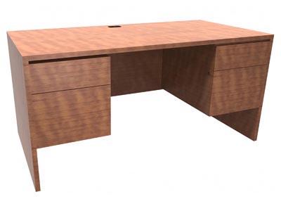 Halton Junior Executive Desk with 1 Grommet