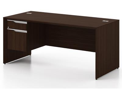 NEX Dark Chocolate Jr Single Pedestal Desk Left