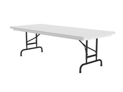 Blow-Molded Plastic Granite Gray Folding Table