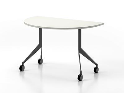 Rent the Q Half Round Training Table