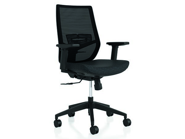 Rent the Upswing Black Work Chair with Arms