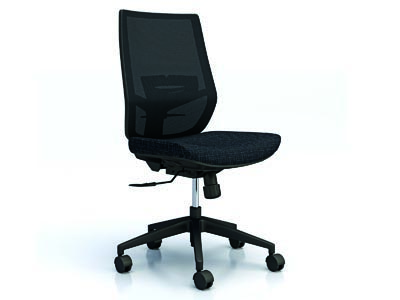 Rent the Upswing Black Armless Work Chair