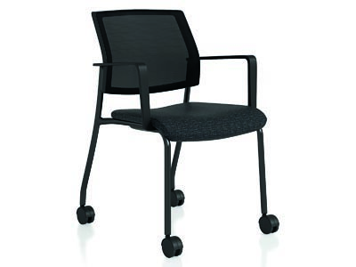 Shifter Black Guest Chair with Casters