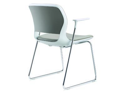 Astra Gray Guest Chair with Arms